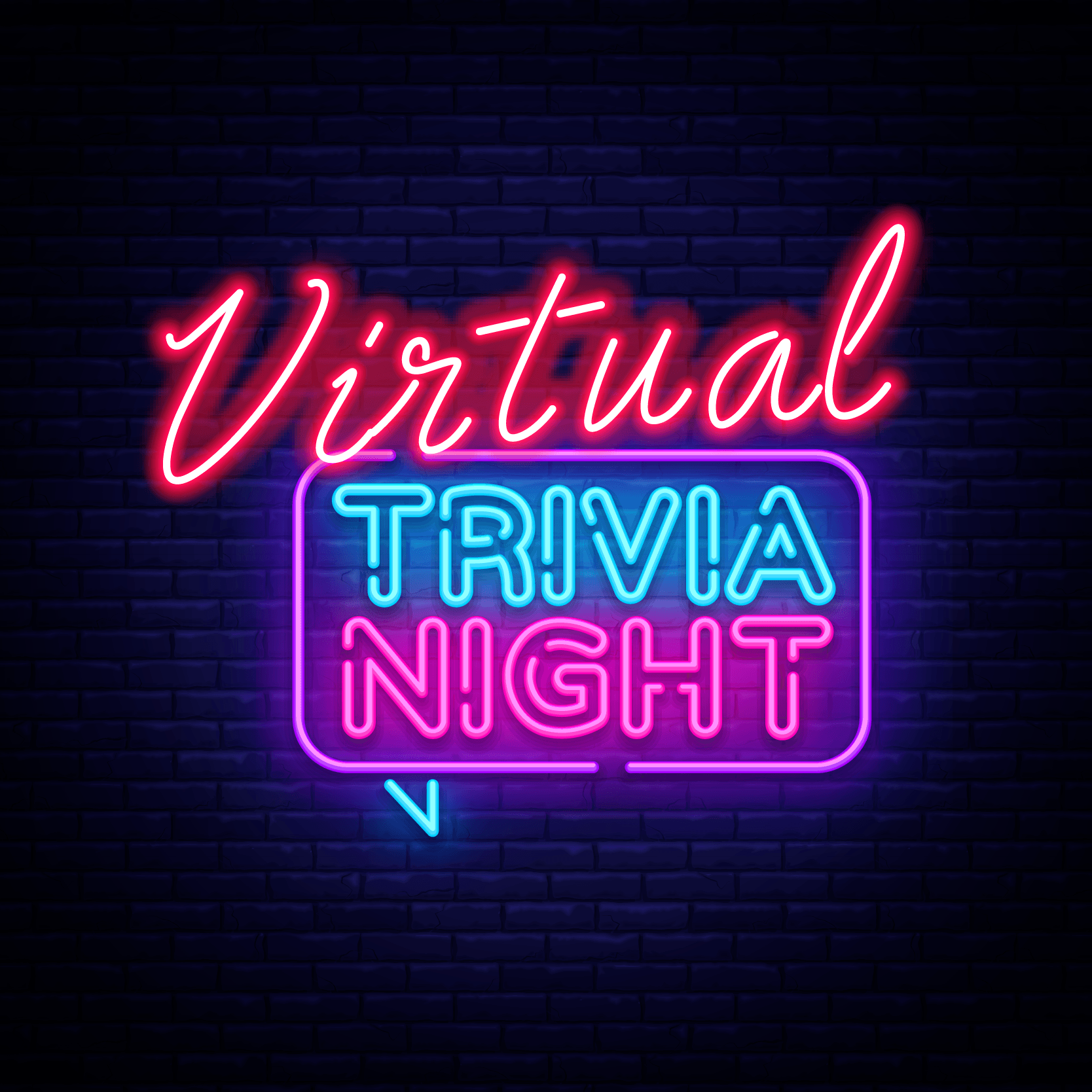 Flyer for Virtual Trivia Night