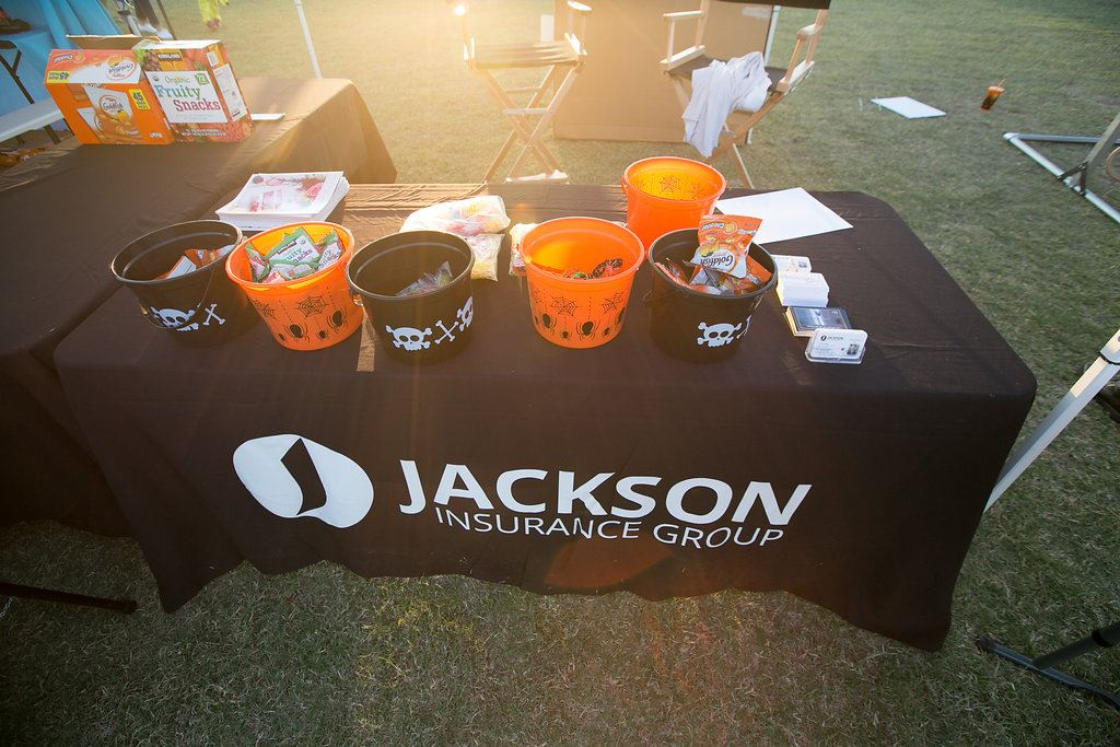 Jackson Insurance Group Booth Table